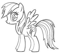 awesome rainbow dash coloring pages for kids baby free pony wonder