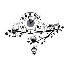 black bird branch diy wall clock pvc sticker home living office product description description black bird branch diy wall sticker clock