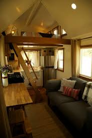 Tiny Living Homes by 300 Sq Ft Incl Lofts Custom Craftsman On Wheels Featured On