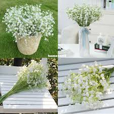gypsophila baby breath fake silk artificial flowers plant for home