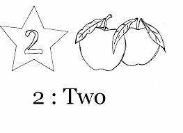 coloring page of number 2
