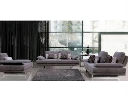 Fabric Modern Sofa European Design Fabric Sofa Set In Lilac Finish 33ss101