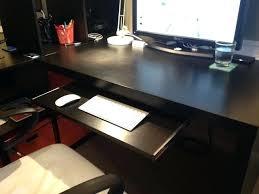 Ikea Big Desk Desk Under The Table Keyboard Tray Big Pine Keyboard Trays