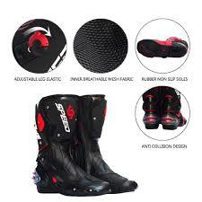 motorbike footwear men motorcycle boots motocross racing speed motorbike shoes