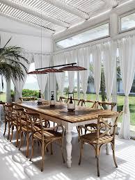 British Colonial Decor Terrasse Gestaltung Essbereich Mit Sonnenschutz Vorhänge
