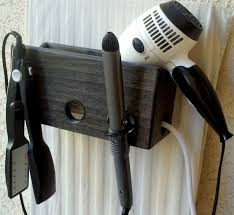 Hair Dryer And Flat Iron Holder Wall Mount curling iron holder wall mount wall decor ideas