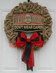 burlap wreaths for sale reserved for cristy firefighter wreath on sale burlap wreath
