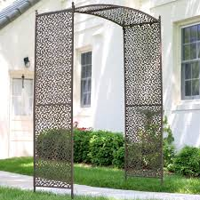 coral coast acropolis extra wide metal arbor with matching trellis