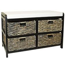 Black Storage Bench 39 Small Storage Bench With Baskets Beacon White Bench With