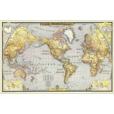 Map Wallpaper 1943 World Map National Geographic Store