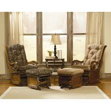 furniture shermag alexis glider rocker and ottoman combo glider