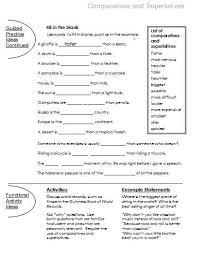 comparatives and superlatives free language stuff