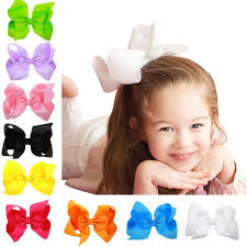 baby girl hair bows baby girl grosgrain ribbon 6 large boutique hair bows pack of 16