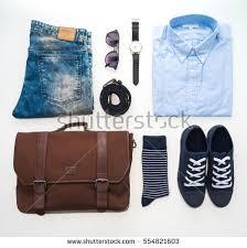 beautiful clothes beautiful fashion clothes set men isolated stock photo 554821603