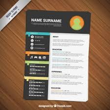 Resume Templates Free Minimalist Resume Template Free Vectors Ui