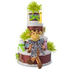 lil baby shower safari giraffe 4 tier cake by lil baby cakes