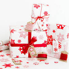 christmas wrapping paper sets snowflakes white christmas wrapping paper set by