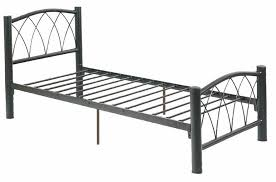home black traditional single metal bed steel frame with storage