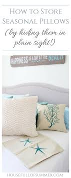 how to store pillows how to store seasonal pillows by hiding them in plain sight house
