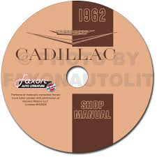 1962 cadillac repair shop manual and parts book on cd rom