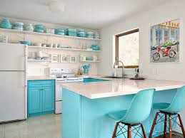 Win A Free Kitchen Makeover - a budget friendly turquoise kitchen makeover dans le lakehouse