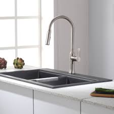 kraus kitchen faucets kraus kpf 1630ss nola stainless steel pullout spray kitchen