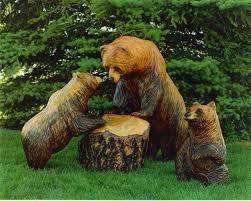 wooden figurines are your garden look individual lending fresh