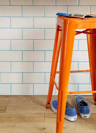 Orange Kitchen Tiles - updating tiles with coloured grout the design sheppard