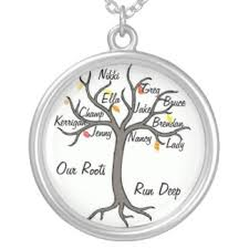 personalized family tree necklace grandmother necklace with names storify