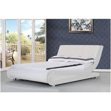 White Leather Bed Frame King Mallorca King Size Pu Leather Bed Frame In White Buy King Size