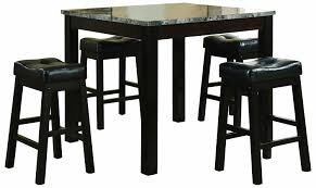 Cappuccino Dining Room Furniture Amazon Com Coaster 5 Piece Dining Set Faux Marble Table Top