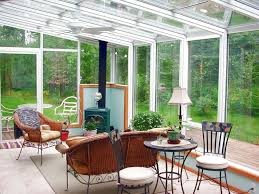 Cozy Sunroom Super Cozy Sunroom Filled With Natural Wood And A Wood Burning
