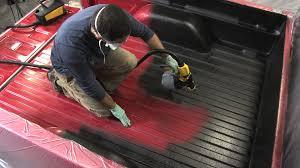 Line X Floor Coating by Motocoat Truck Bed Liner Sprayer Youtube
