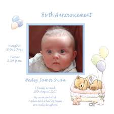 birth announcement wording baby card a6g girl birth announcement buy personalised baby