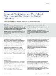 ergonomic workstations and work related musculoskeletal disorders