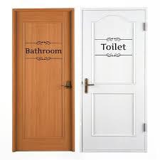 Bathroom Door Stickers 1 Pc Removable Fun Vintage Door Stickers Bathroom Decor Toilet