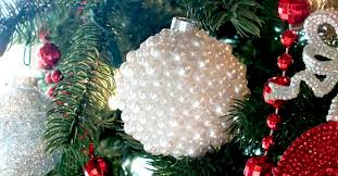 pearl tree ornaments two