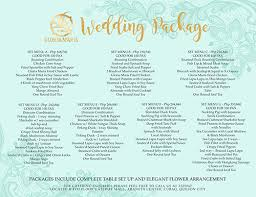 Wedding Packages Wedding Package Gloria Maris