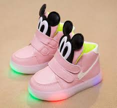minnie mouse light up shoes mickey mouse led light up tennis shoes pink mias pinterest