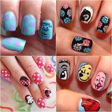 easy nail art characters disney nail art nail art disney easy nail designs ideals