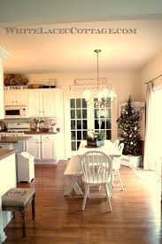 christmas kitchen ideas kitchen christmas tree in a trunk white lace cottage