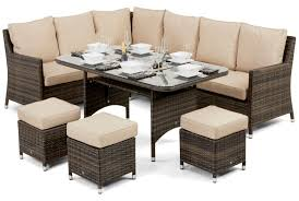Outdoor Rattan Corner Sofa Maze Rattan Venice Brown Rattan Corner Sofa Dining Set With Ice