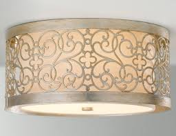 Flush To Ceiling Light Fixtures Feiss Fm339slp Arabesque Flush Mount Ceiling Fixture