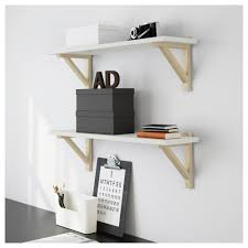 White Wall Shelves With Brackets Ekby östen Ekby Valter Wall Shelf Ikea