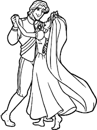 rapunzel flynn wedding dance coloring pages wecoloringpage