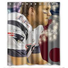 New England Patriots Shower Curtain Buy Fashionable Tom Brady New England Patriots Shower Curtain Good