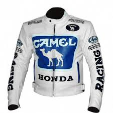 white motorbike jacket new export quality camel white honda motorbike pure leather jacket