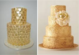 golden wedding cakes metallic wedding cakes golden wedding cakes