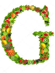 fruit and vegetable letter g u2014 stock photo kesu01 7795168