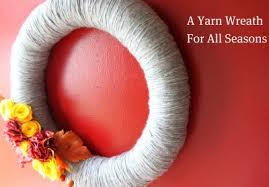 how to make a wreath how to make a yarn wreath for all seasons momadvice